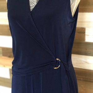 NWT Michael Kors navy side-buckle jumpsuit